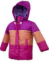 Зимняя куртка для девочки Фуксия- оранжевый- малиновый. От 10 до 24 месяцев