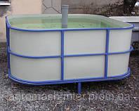 Бассейн для рыборазведения объем 3,6 м3 полипропилен