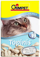 Витаминизированные лакомства для котов ДжимКет Топиник (Gimpet Cat Topinis) 190 шт, фото 1