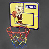 Гр Щит баскетбольный (1) кольцо d-30см, с сеткой