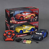 "Машина 17616-51-4-41 С ""Тачки"" (48/2) р/у, на аккумуляторный батарейках, 3 цвета, в коробке"