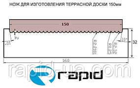 Ножі для виготовлення терасної дошки 150 мм