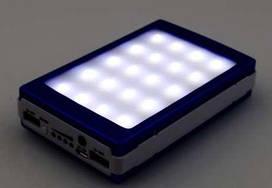 Power Bank 40000 mAh на солнечной батарее с фонариком