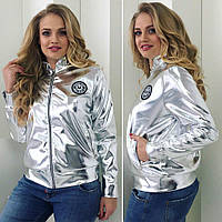 Куртка 48+ из эко-кожи, 2 цвета 1667-360