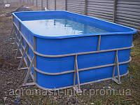 Бассейн для рыборазведения объем 6 м3 полипропилен