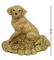 Статуэтка Собака на монетах сидит 10 см. Символ 2018 года