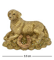 Статуэтка Собачка на монетах лежит 5 см. Символ 2018 года