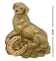 Статуэтка Собачка на монетах сидит 5 см. Символ 2018 года