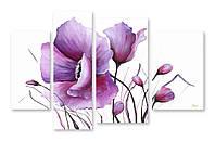 Модульная картина рисунок цветы