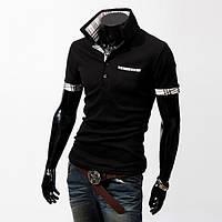 Мужская футболка-рубашка поло Stereoman (Черный)