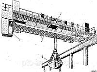 Кран мостовой двухбалочный специальный грейферный г/п 8 т.