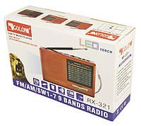Радиоприемник GOLON RX-321(SOLAR) с солнечной батареей, фото 1