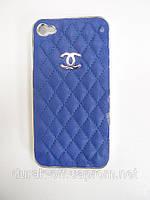 Чехол Beight Iphone 4 синий кожаная крышка