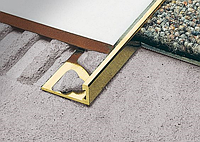 Уголок для плитки 10,11 мм латунный