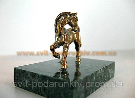Оригинальный подарок, бронзовая фигурка Конь, фото 2