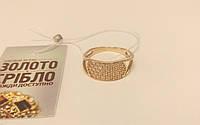 Кольцо золотое со вставками, б/у,  вес 3,3 грамм, 19,5 размер.