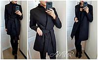 Стильное пальто женское большие размеры (цвета) СЕР1191, фото 1