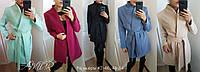 Стильное пальто женское большие размеры (цвета) СЕР1191