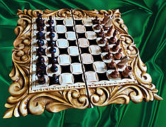 Різьблені шахи ручної роботи
