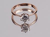 Золотое кольцо с бриллиантом 0.96