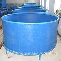 Бассейны круглые для рыборазведения объем 1,5 м3 полипропилен