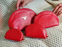 Женские косметички 4в1 Prada Milan, красная, фото 1