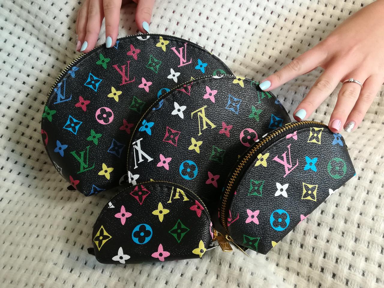 595ee781c782 Женские косметички 4в1, черные Louis Vuitton - Интернет магазин Lisbag в  Умани
