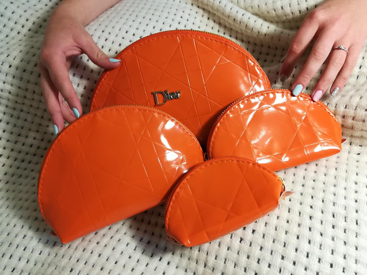 Косметички 4в1 ,оранжевая