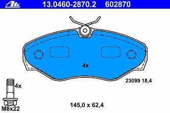 Гальмівні колодки передні на Renault Trafic 2001-> — ATE (Німеччина) - 13.0460-2870.2