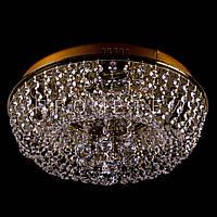 Хрустальная люстра с LED подсветкой на пульте управления  на 4 лампочки (золото). P5-E0966/4/FG