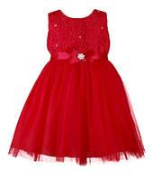 Бальное детское платье на девочку с атласным бантом