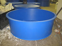Бассейны круглые для рыборазведения объем 3,2 м3 полипропилен