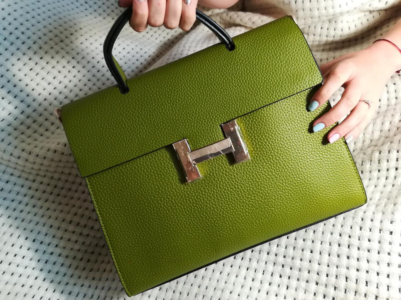 Женская сумка  высокого качества зеленая