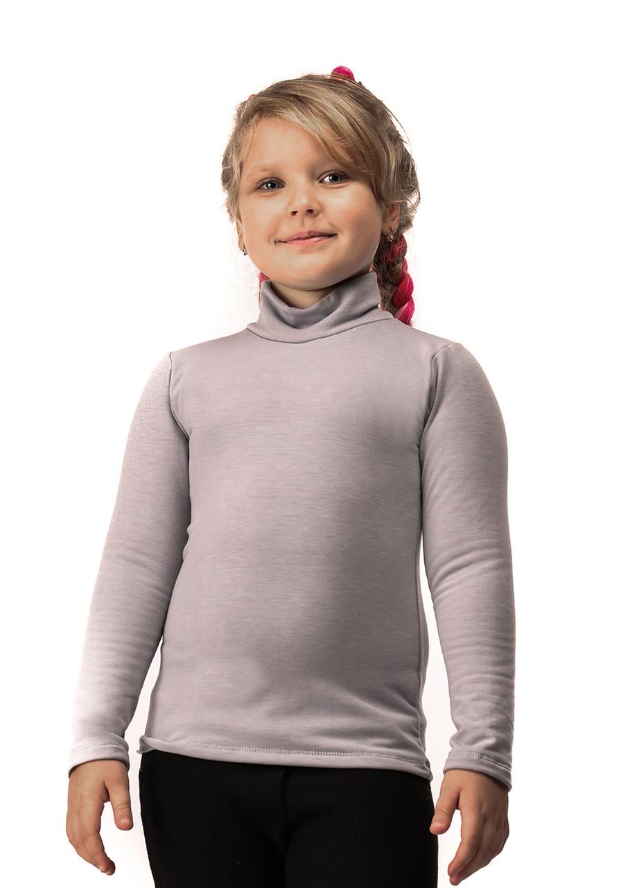 Гольф детский на флисе  серый