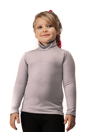 Гольф детский на флисе  серый, фото 2