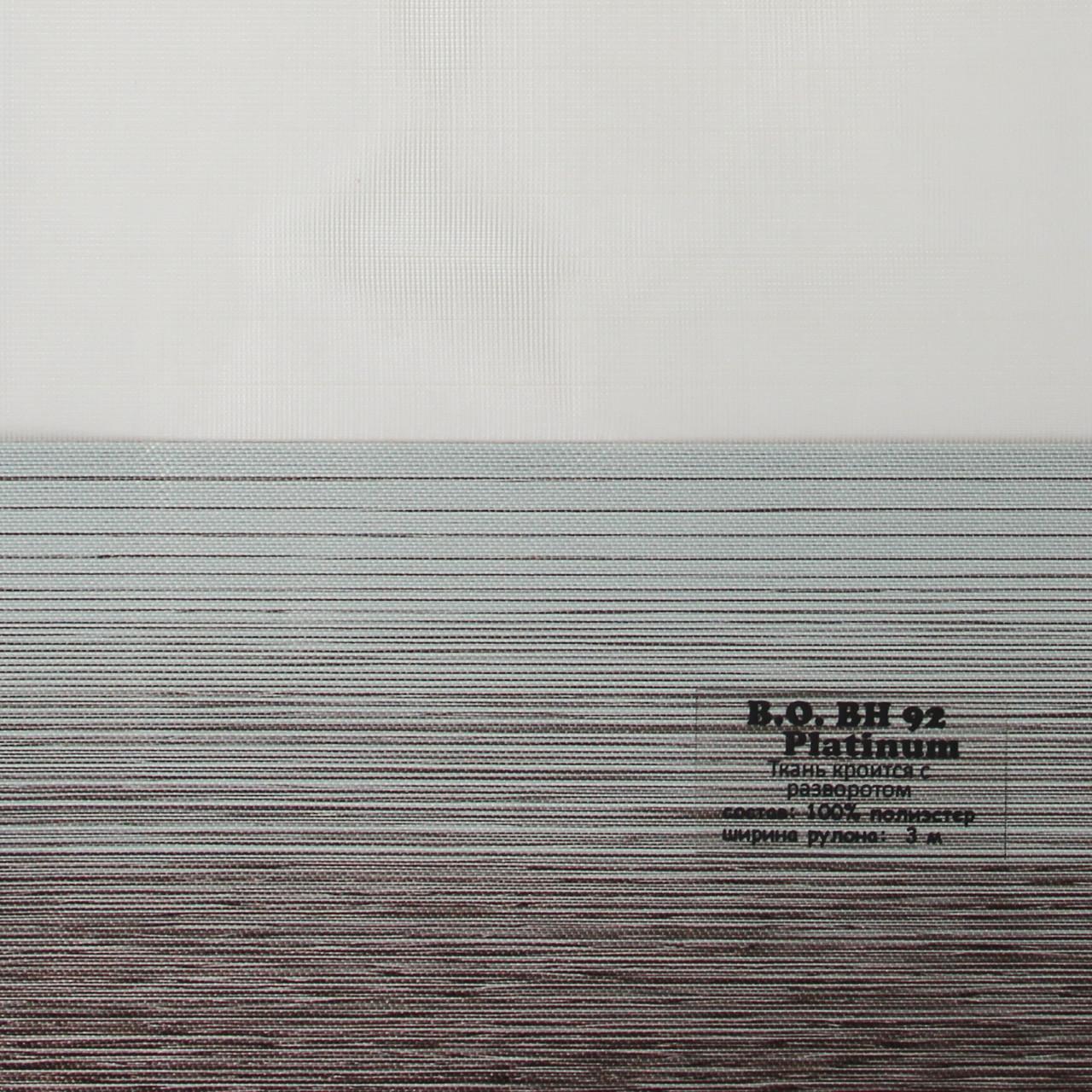 Рулонні штори День-Ніч Тканина Дует Лайт блек-аут ВН-92 Platinum