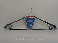Широкая вешалка плечико 41см в силиконе с крючками для юбок и брюк