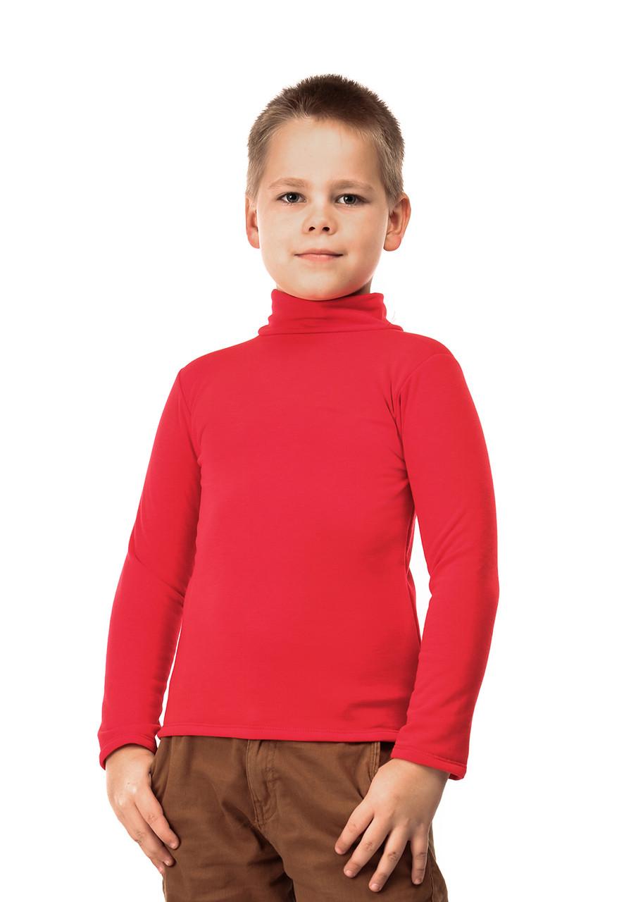 Гольф детский на флисе  красный
