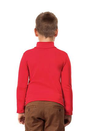 Гольф детский на флисе  красный, фото 2