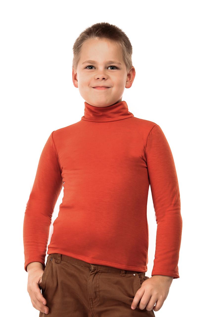 Гольф детский на флисе  терракот
