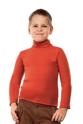 Гольф детский на флисе  терракот, фото 2