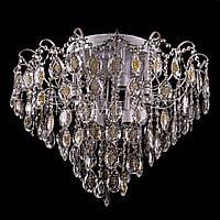 Хрустальная люстра, классическая с LED подсветкой на 10 лампочек (белое золото). P5-E1269/10+10/WT+FG
