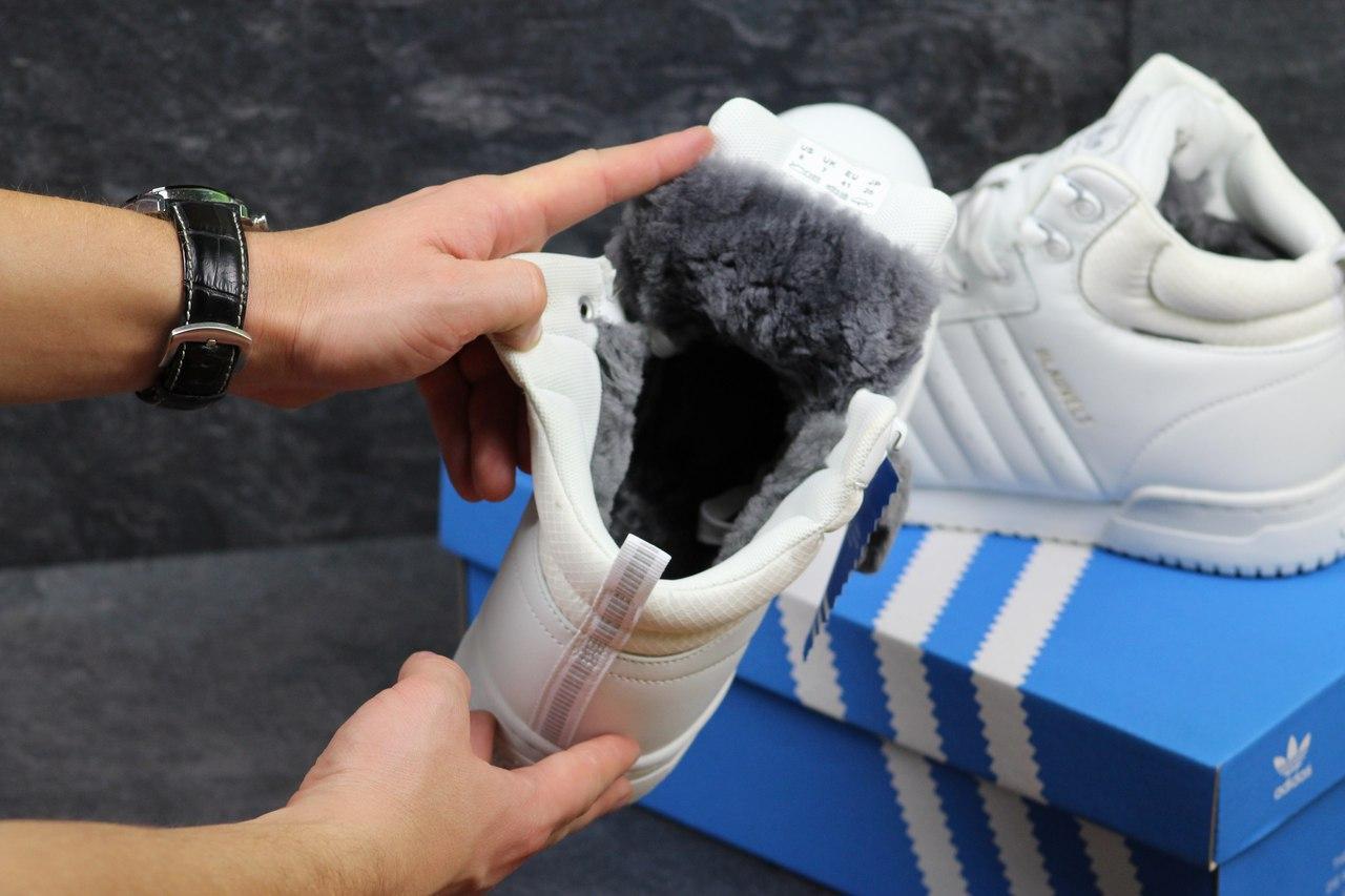 b1073ff2 Мужские зимние кроссовки Adidas Blauvelt белые 3472, цена 1 095,01 грн.,  купить в Хмельницком — Prom.ua (ID#598005958)