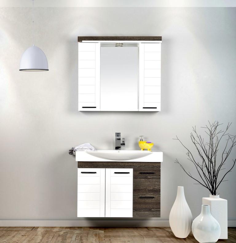 "Комплект мебели для ванной GOLD Ban-Yom ""Laura 85"", 850х490х530 мм"