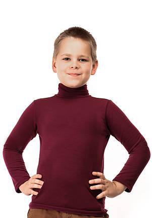 Гольф детский на флисе  баклажан, фото 2