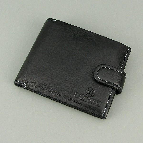 4e8c76aa8d18 Кошелек мужской кожаный черный B. Cavalli 457 - Интернет-магазин