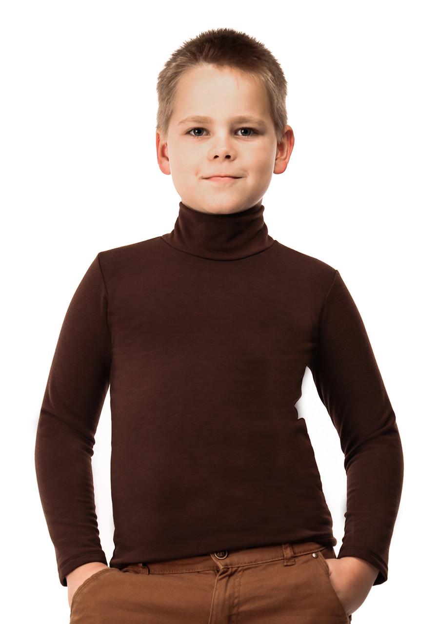 Гольф детский на флисе  шоколад