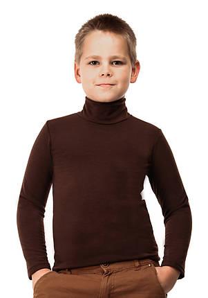 Гольф детский на флисе  шоколад, фото 2