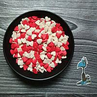 Кондитерская посыпка сахарные Сердца  - 50 грамм