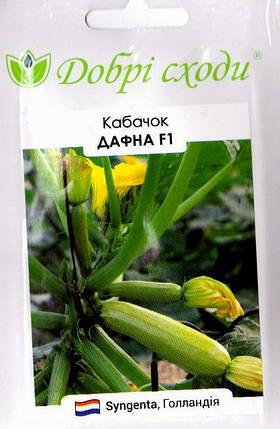 Семена кабачка Дафна 5шт ТМ ДОБРІ СХОДИ, фото 2